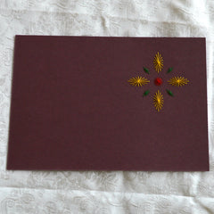 Card Embroidery - Completed Stitching