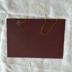 Card Embroidery - Attach thread using small piece of adhesive tape