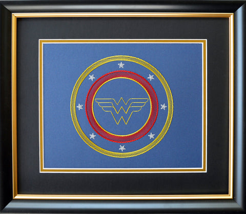 Card Embroidery - Completed Wonder Woman Kit KTWW1