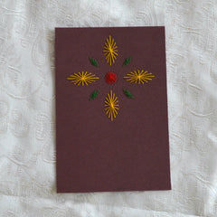 Card Embroidery - Inset Card cut to size