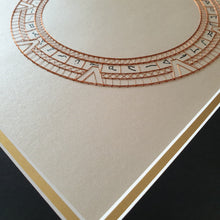 Load image into Gallery viewer, SG1 Stargate Inspired Card Embroidery Kit (Cream Card)