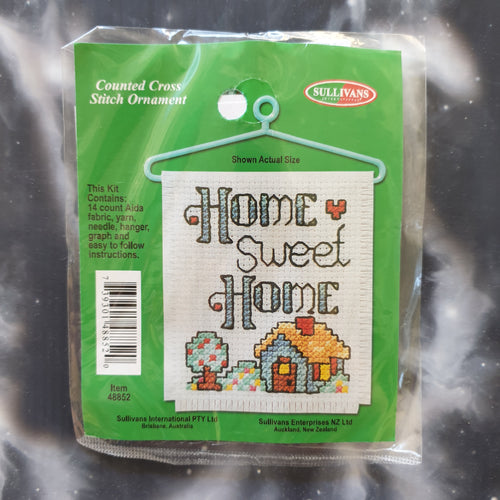 Home Sweet Home Counted Cross Stitch Ornament Kit