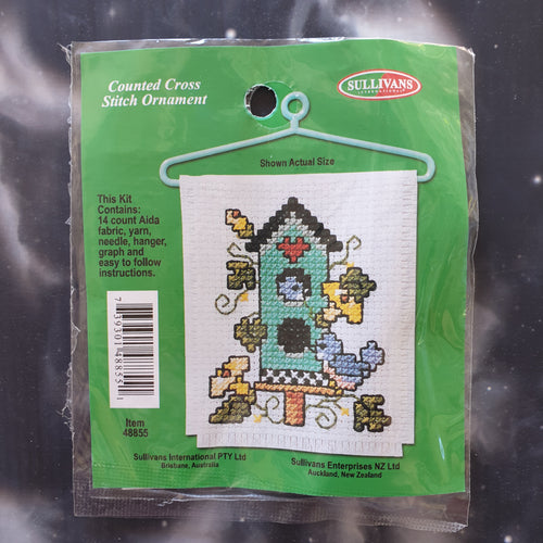 Birdhouse Counted Cross Stitch Ornament Kit