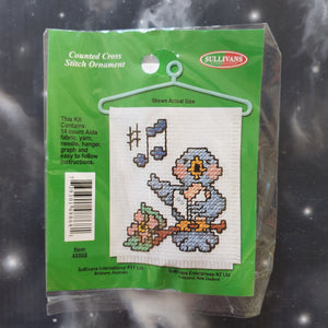 Singing Bird Counted Cross Stitch Ornament Kit