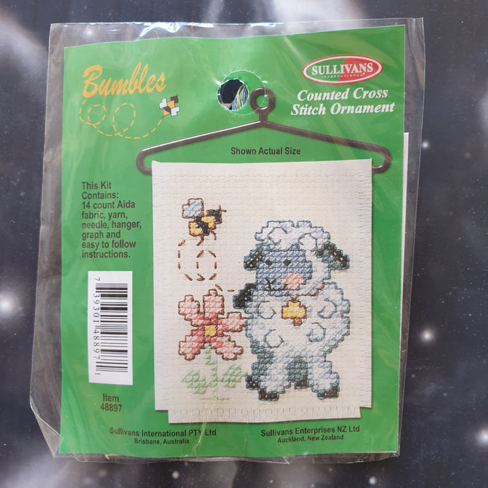 Sheep with Bee Counted Cross Stitch Ornament Kit