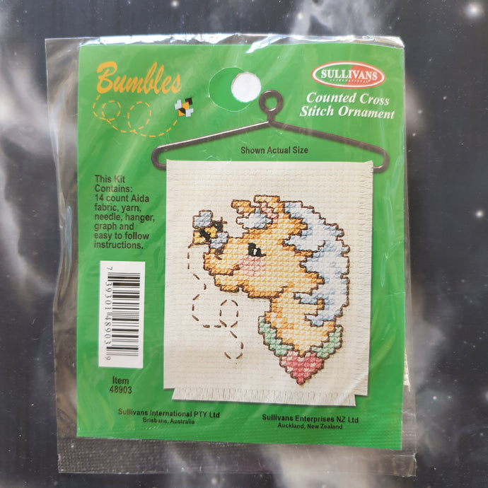 Horse with Bee Counted Cross Stitch Ornament Kit