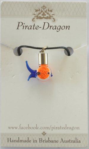 Glass Fish Pendant - colour variations available