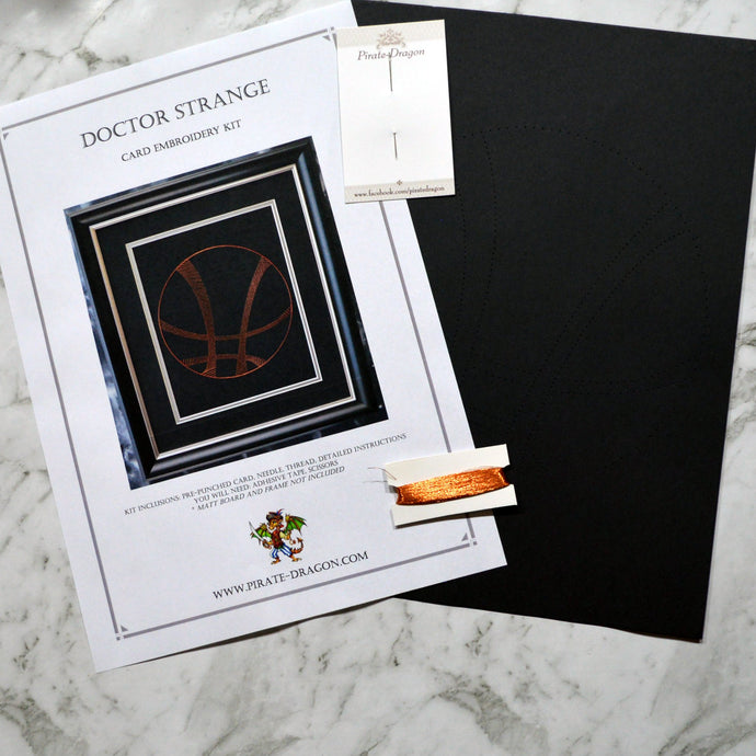 Dr Strange Card Embroidery Kit (Black Card)