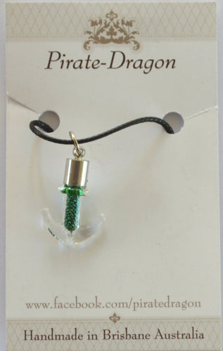 Glass Anchor Pendant - choose your own colour/s