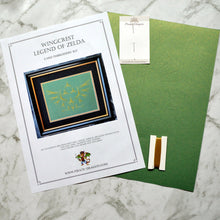 Load image into Gallery viewer, Legend of Zelda Inspired Embroidery Kit (Green Card)