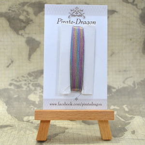 Rainbow/White Twist Metallic Thread 50m (TM014)