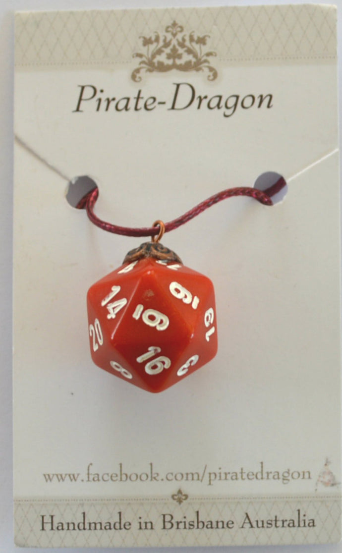 Dice Pendant - Red - other colours available
