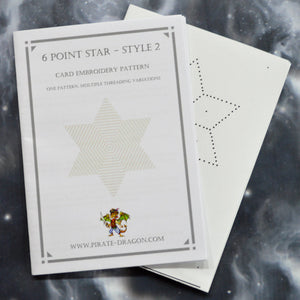 6 Point Star - Style 2 - Gift Card Embroidery Pattern