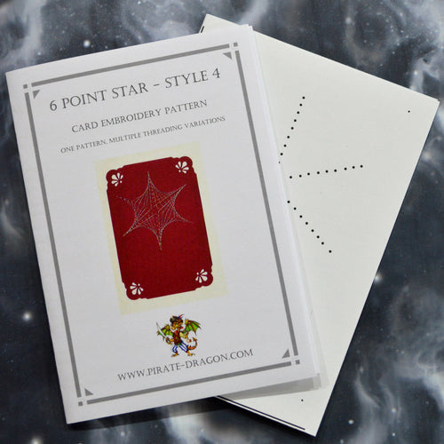 6 Point Star - Style 4 - Gift Card Embroidery Pattern