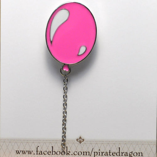 Pink Balloon Enamel Pin