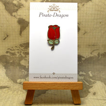 Load image into Gallery viewer, Red Rose Enamel Pin