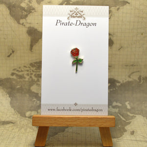 Red Rose Enamel Pin