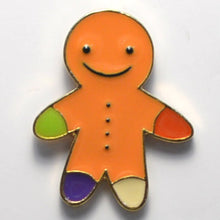 Load image into Gallery viewer, Gingerbread Man Enamel Pin