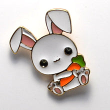 Load image into Gallery viewer, White Rabbit Enamel Pin