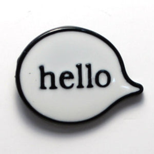 Hello Enamel Pin