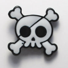 Load image into Gallery viewer, Skull & Bones Enamel Pin