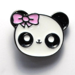 Panda Head Enamel Pin