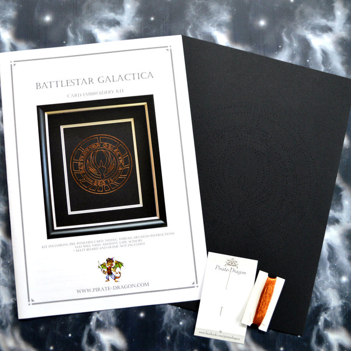 Battlestar Galactica BSG75 Inspired Card Embroidery Kit