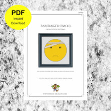 Load image into Gallery viewer, Bandaged Emoji - Counted Cross Stitch Pattern - Digital Pattern - INSTANT DOWNLOAD