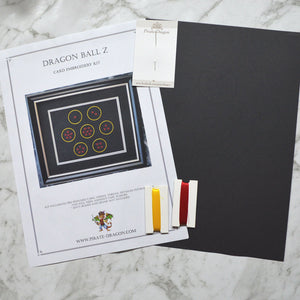 Dragon Ball Z Inspired Card Embroidery Kit (Black Card)