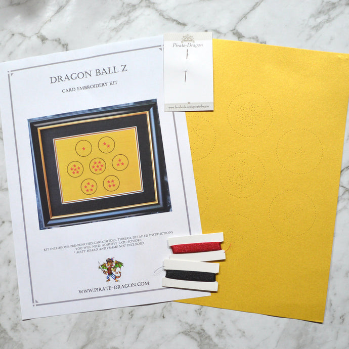 Dragon Ball Z Inspired Card Embroidery Kit (Yellow Card)