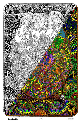 Jungle Doodle Art Poster (24 x 34 inch)