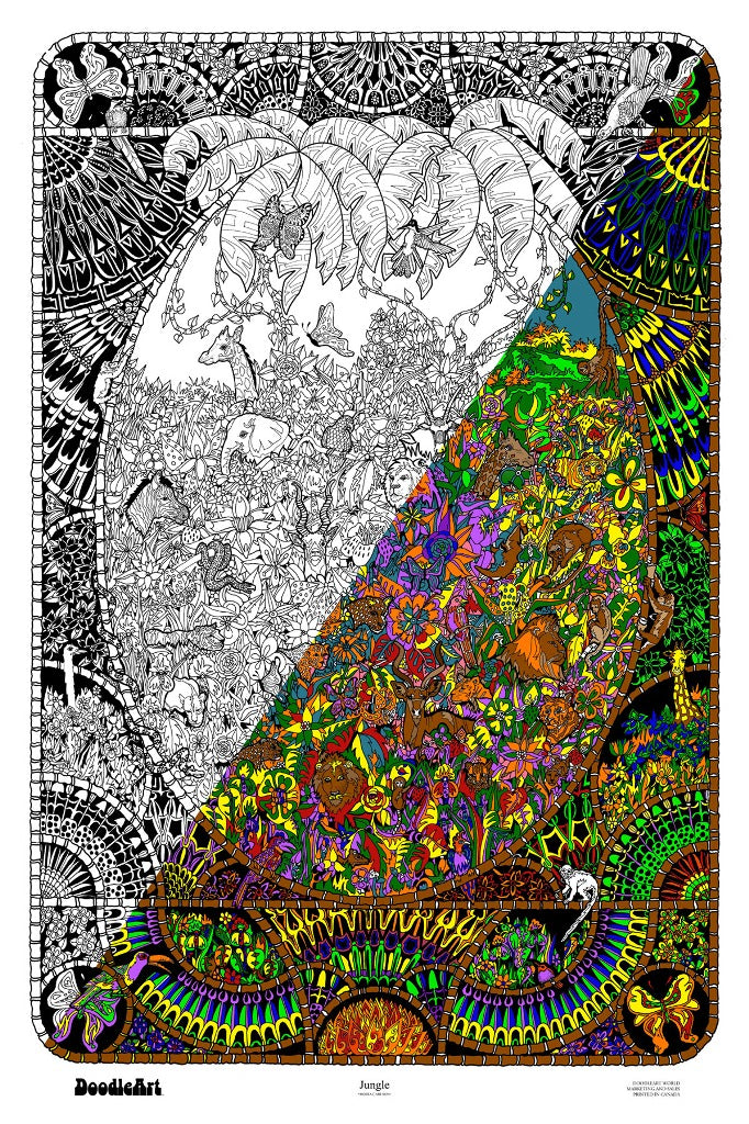 Jungle Doodle Art POSTER ONLY (24 x 34 inch)