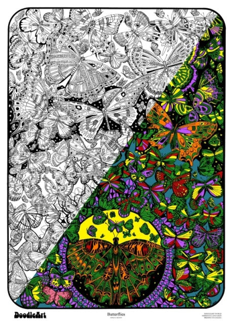 Butterflies Doodle Art POSTER ONLY (24 x 34 inch)