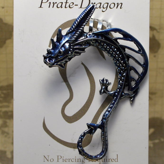 Open Wing Dragon - Light Blue - Non-Pierced Earcuff (EC00203)