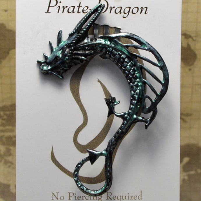 Open Wing Dragon - Pale Green - Non-Pierced Earcuff (EC00211)