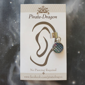 Dragon/Mermaid Scale - Blue/Purple - Non-Pierced Earcuff (EC2058)