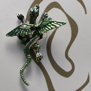 Small Dragon - Light Green - Non-Pierced Earcuff (EC2519)