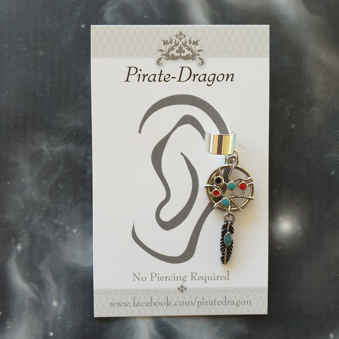 Dream Catcher Non-Pierced Ear Cuff (EC4050)