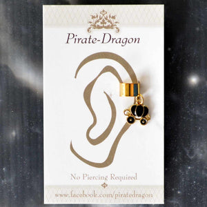 Black Carriage Non-Pierced Ear Cuff (EC4085)