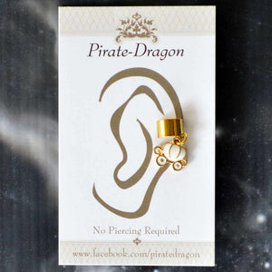 White Carriage Non-Pierced Ear Cuff (EC4087)