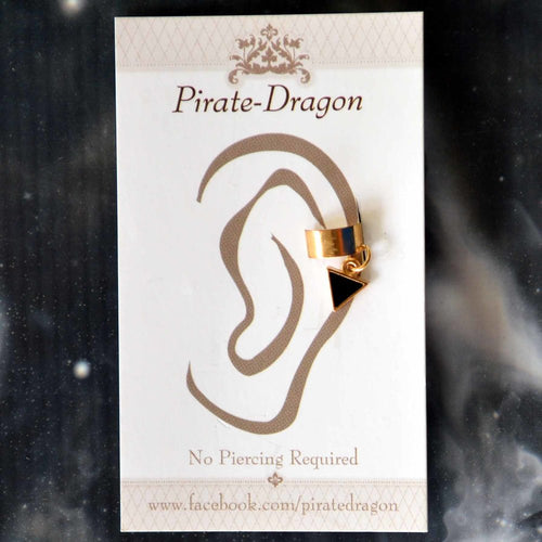 Black Triangle Non-Pierced Ear Cuff (EC4157)