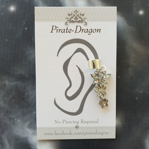 White Gem Butterfly Non-Pierced Ear Cuff (EC4202)