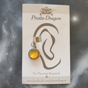 Dragon/Mermaid Scale - Yellow/Orange - Non-Pierced Earcuff (EC464B)