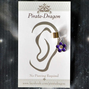 Purple Flower Non-Pierced Ear Cuff (EC9434)