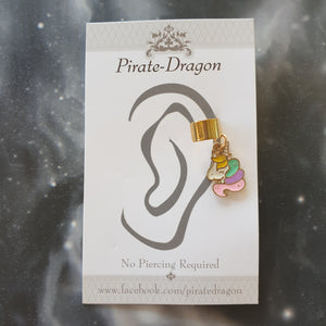 Multi-colour Unicorn Head Non-Pierced Ear Cuff (EC9456)