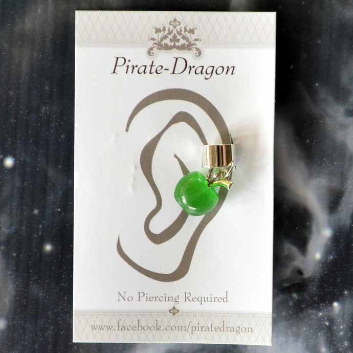 Green Apple Non-Pierced Ear Cuff (EC9604)