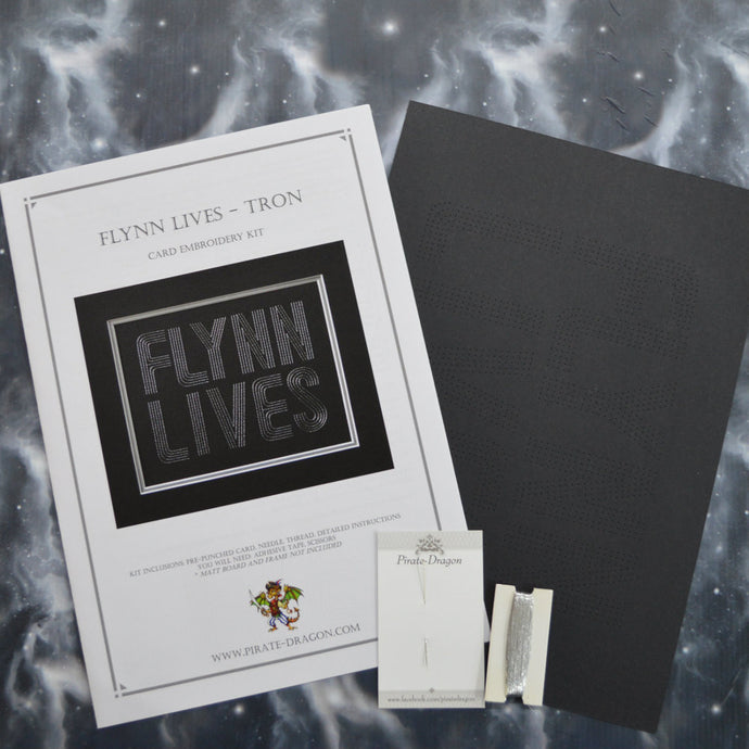 Flynn Lives - Tron Inspired Card Embroidery Kit