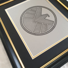 Load image into Gallery viewer, Agents of S.H.I.E.L.D. Inspired Hand-Stitched Artwork (Silver Card)