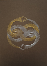 Load image into Gallery viewer, Auryn (The Neverending Story) Inspired Card Embroidery Kit (Brown Card)