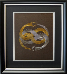 Auryn (The Neverending Story) Inspired Card Embroidery Kit (Brown Card)
